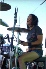 tina-on-drums